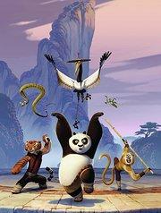 功夫熊猫-阿宝与狐狸师父离别