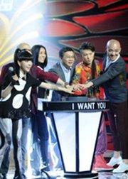 中国好声音第2季开播仪式,那英携众学员助阵。