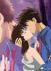 在这剧场版之中,小兰把自己的初吻给了柯南