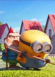 动画短片:修剪草坪的小黄人