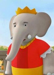 大象巴巴和小象巴豆 英文版