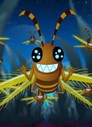 丰丰农场:蝗虫一看见蓝色灯光,就无法自拔,全都飞了过去