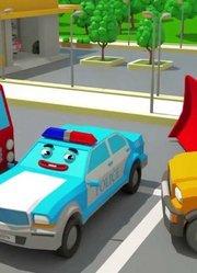挖掘机建筑卡车-新儿童卡通动画汽车和卡车故事