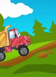少儿益智-城市中的红色倾卸卡车和伙伴们