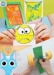 废 玩疯了方大手不吃鱼 儿童手工折纸教程 一张纸可以玩一天
