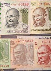 """带你一起看看一整套的印度纸币,头像是印度""""国父""""圣雄甘地"""