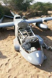 印度无人机入侵中国领空坠毁