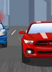 路上的警车处理违章车辆!儿童急救车和卡车动画片